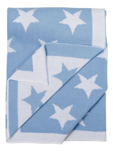 "Baby boys reversable ""Star"" Shawl"